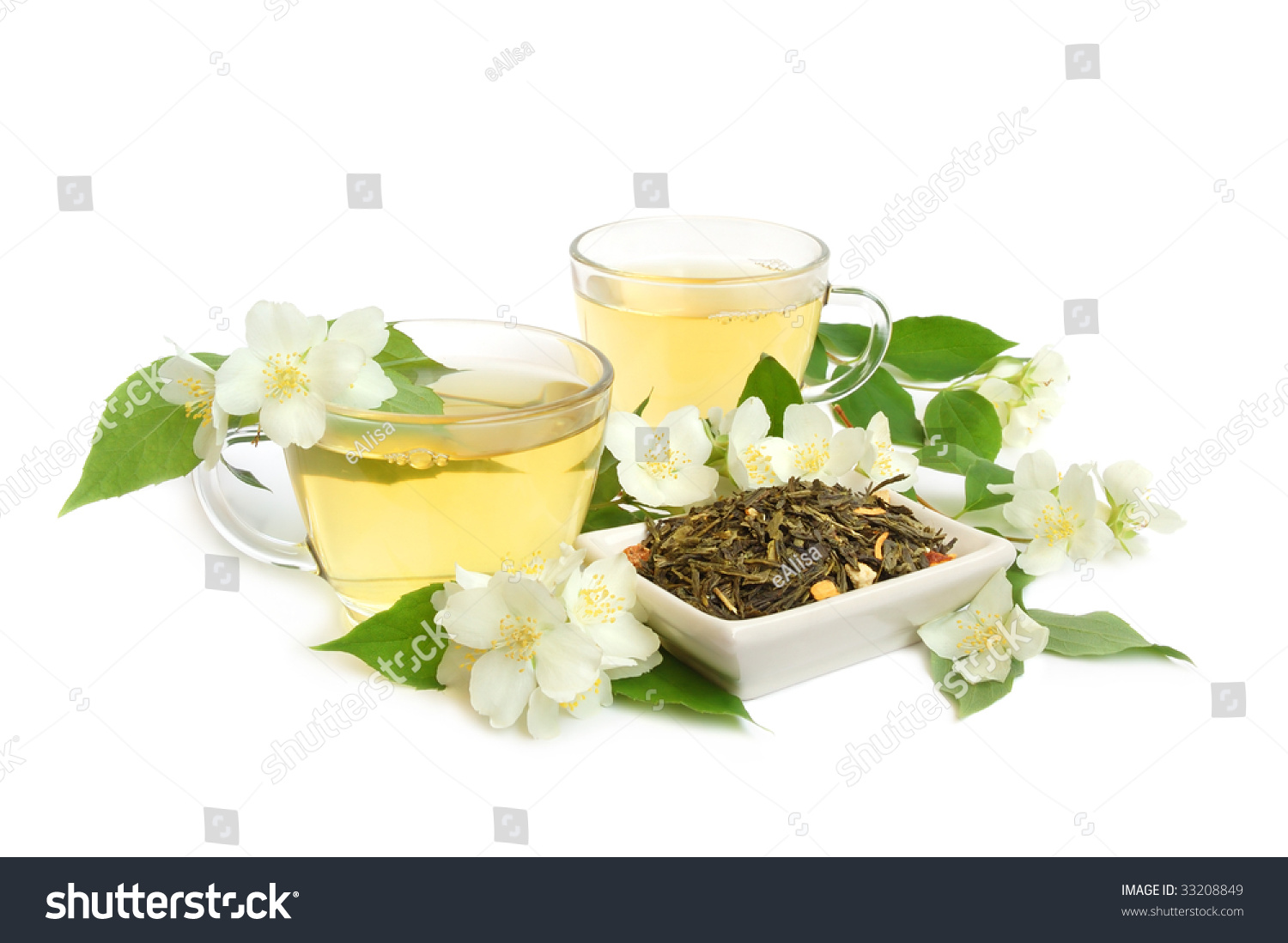 Organic Jasmine Tea Leaves Fresh Jasmine Stock Photo Royalty Free