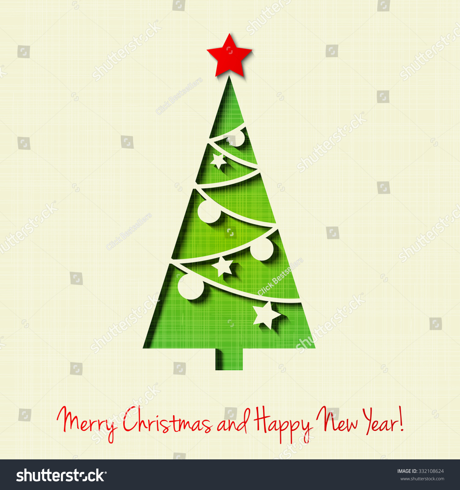 Greeting Card Merry Christmas Stock