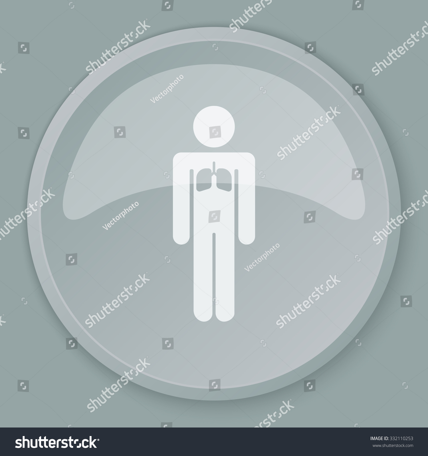 White Lungs icon on grey web button
