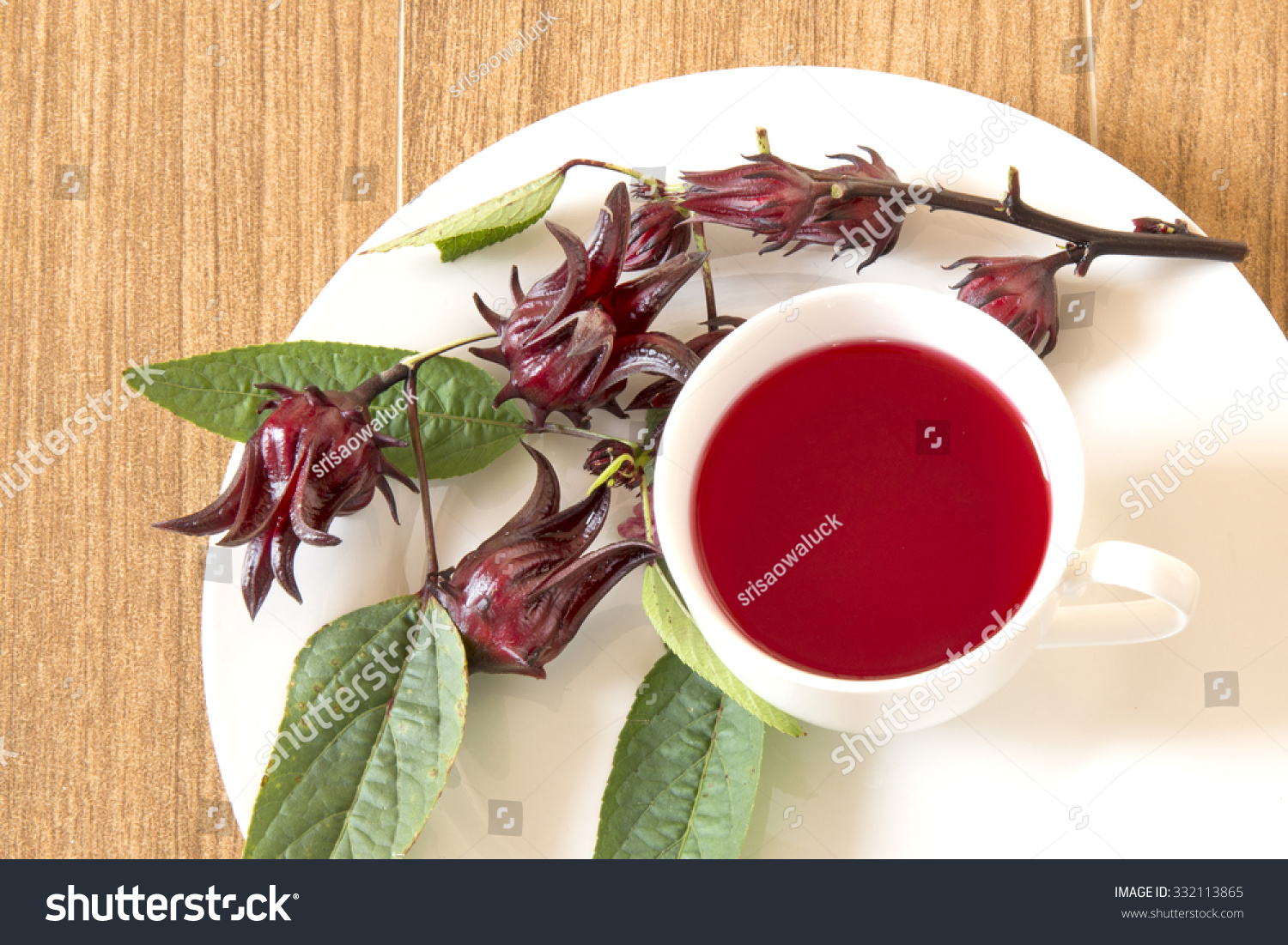 Rosella Tea In A White Cup Stock Photo 332113865 ...