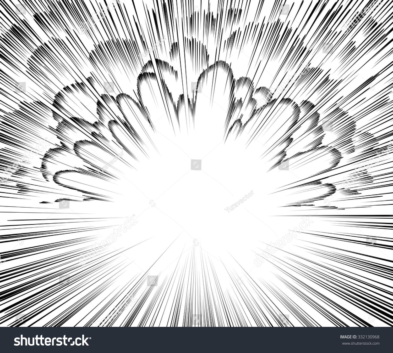 comic book explosion black white radial stock vector
