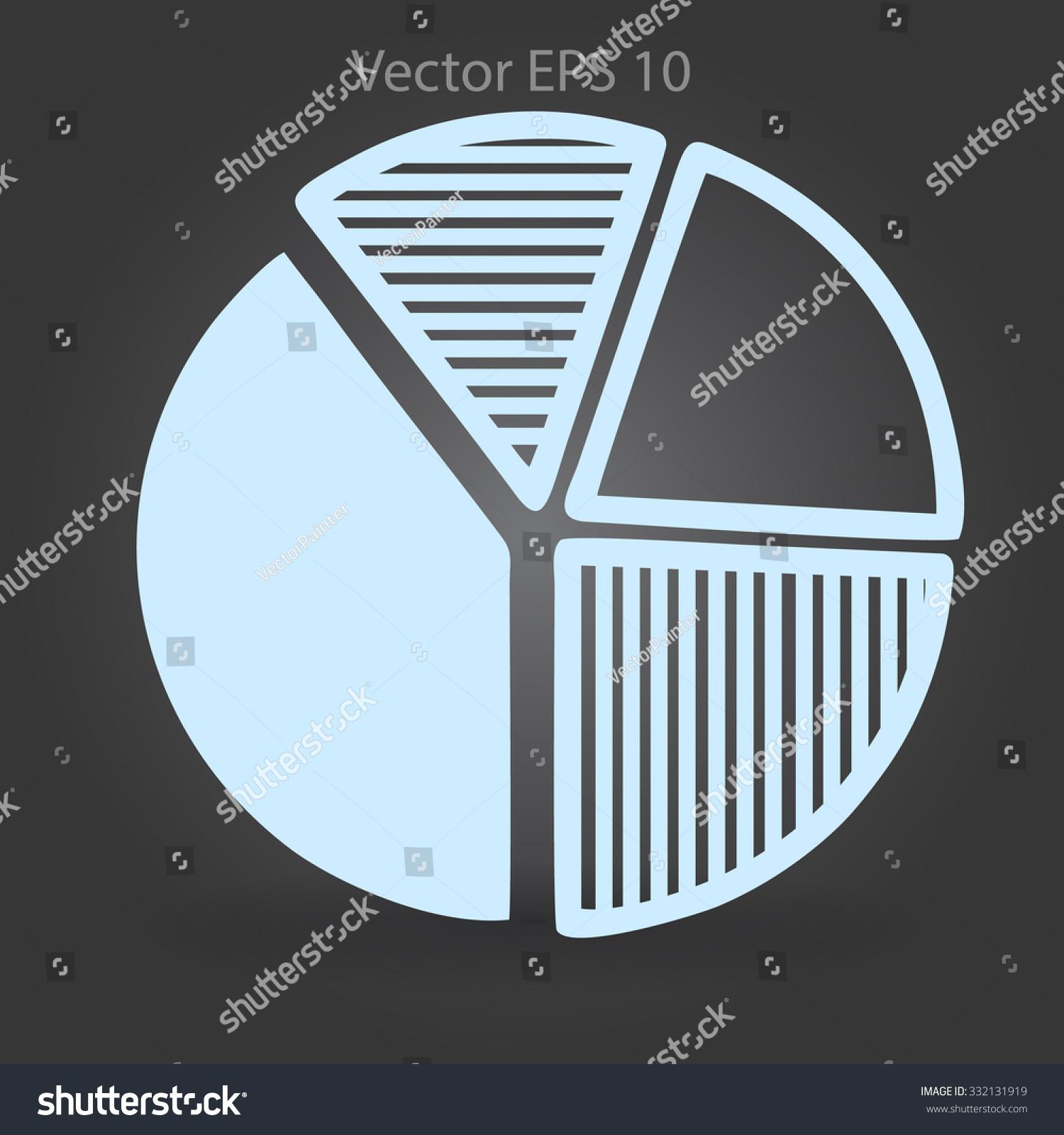 Pie Chart Diagram Visual Aid Vector Stock Vector 332131919 ...
