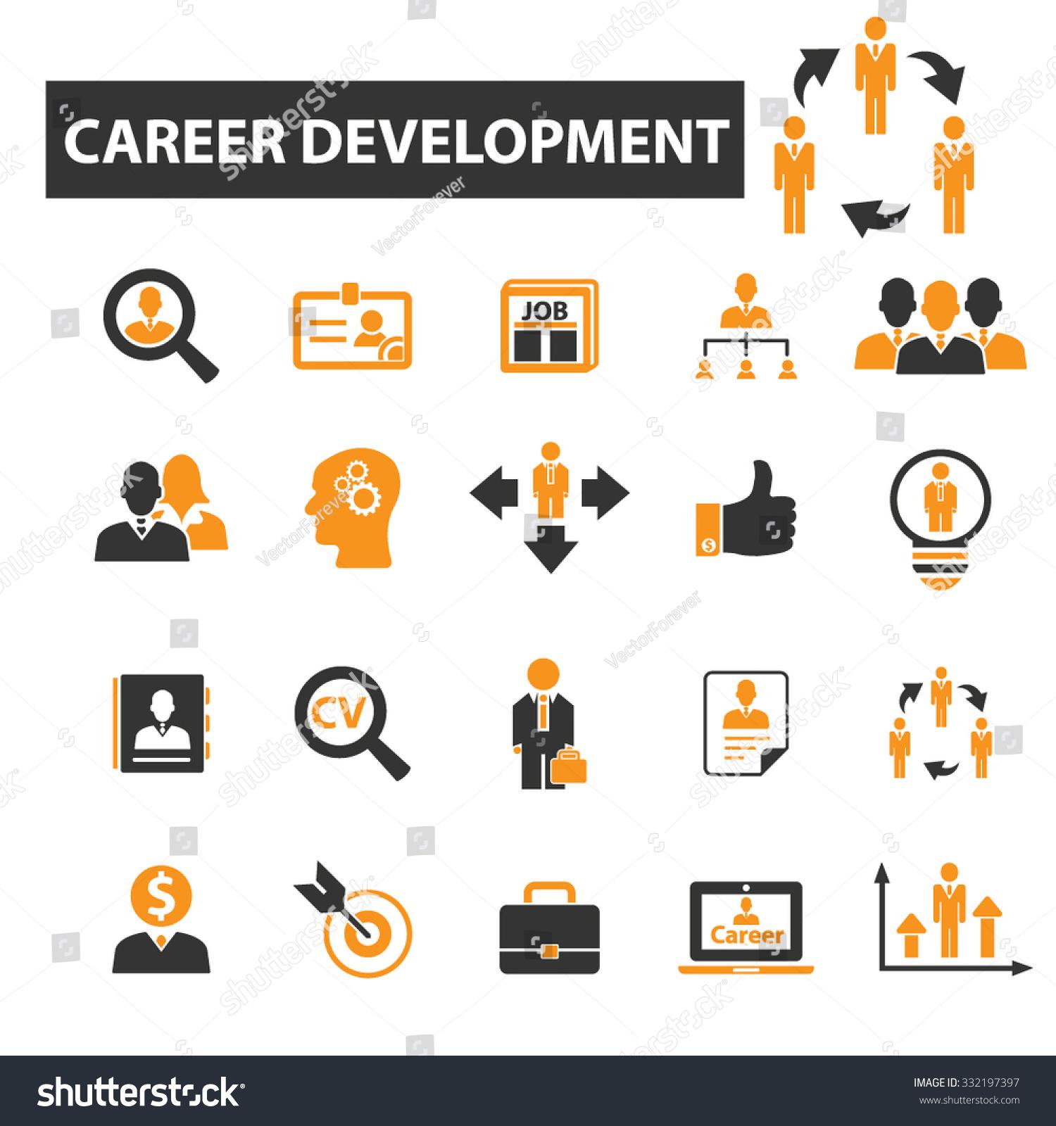 Career Development Employee Hr Headhunting Icon Stock Vector ...