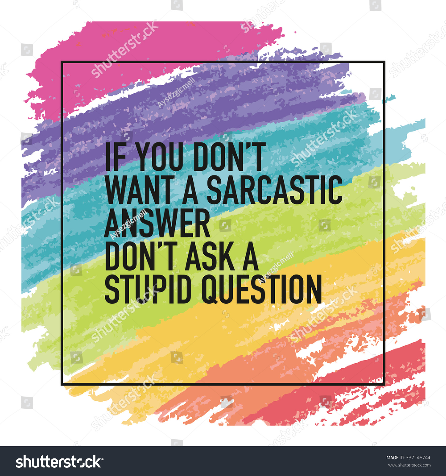 Funny Quote Sayings Typographic Poster Wallpaper Stock Vector