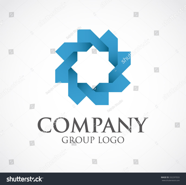 Circle Blue Connection Abstract Vector Logo Stock Vector (Royalty ...