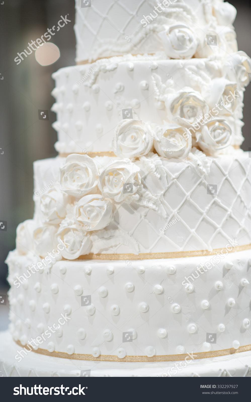 Closeup White Cake Wedding Party Multi Stock Photo (Edit Now ...