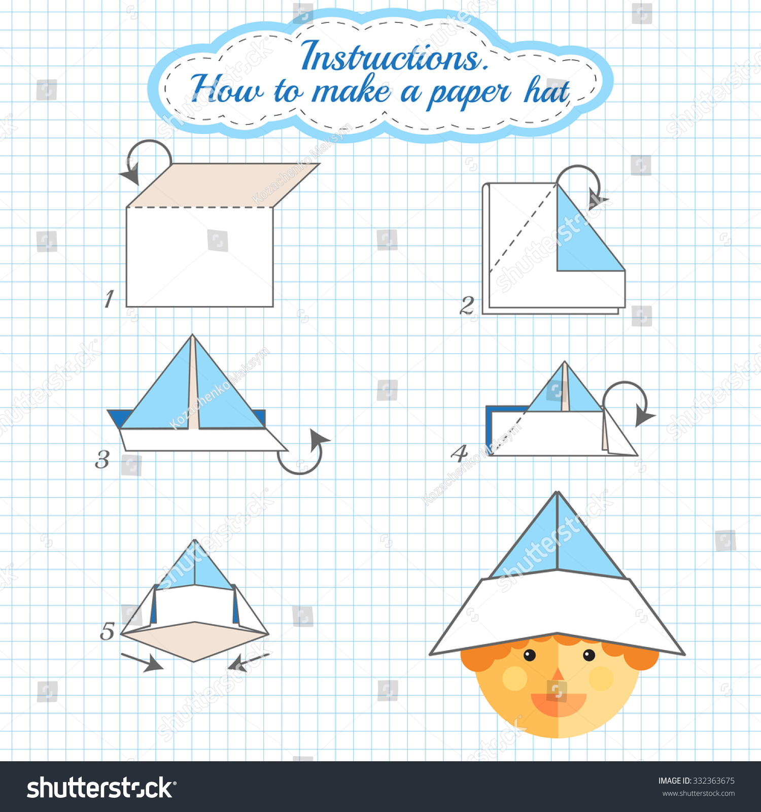 How to: Origami Hat | How to: Origami | 1600x1500