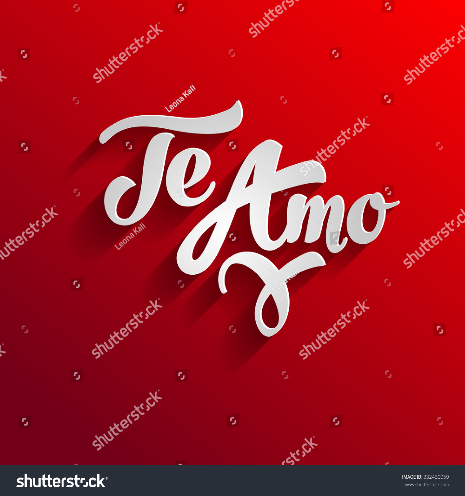 Love You Spanish Greeting Card Template Stock Vector Royalty Free