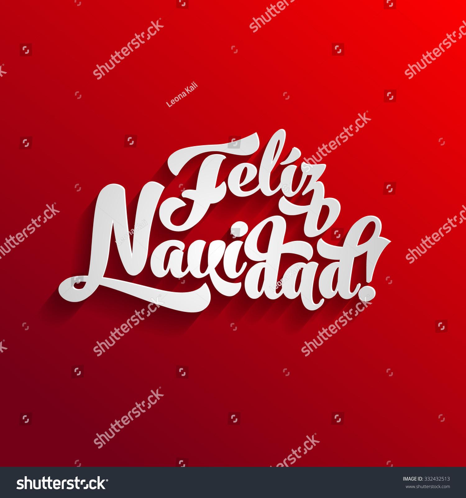 Vector merry christmas card template greetings stock vector vector merry christmas card template with greetings in spanish language feliz navidad kristyandbryce Images
