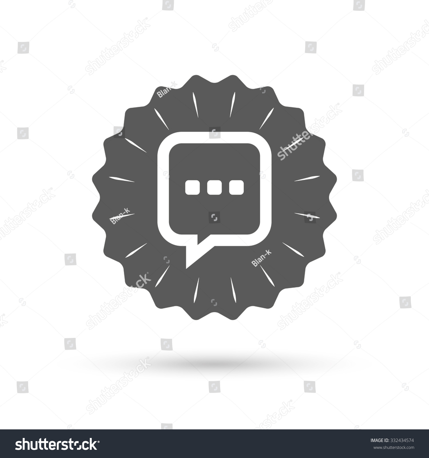 Vintage emblem medal chat sign icon stock vector 332434574 vintage emblem medal chat sign icon speech bubble with three dots symbol communication biocorpaavc