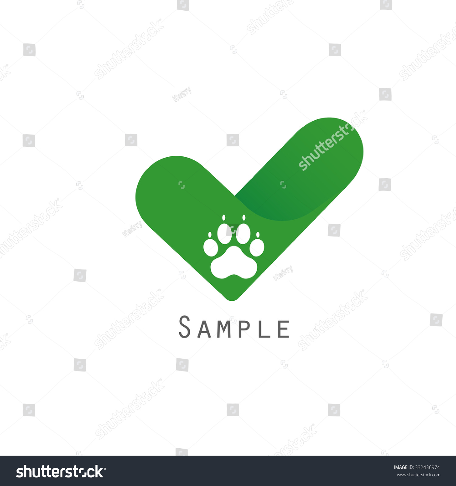logotype template dog paw check logotype stock vector royalty free
