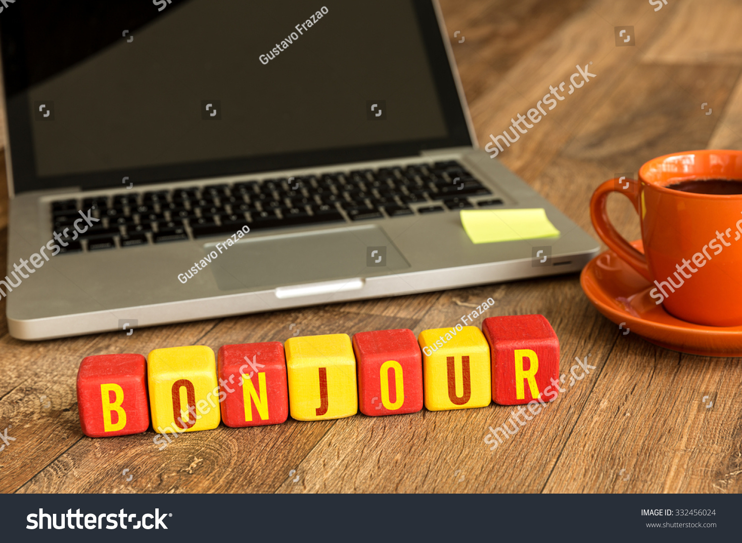 Good Morning In French Written On Stock Photo Edit Now 332456024
