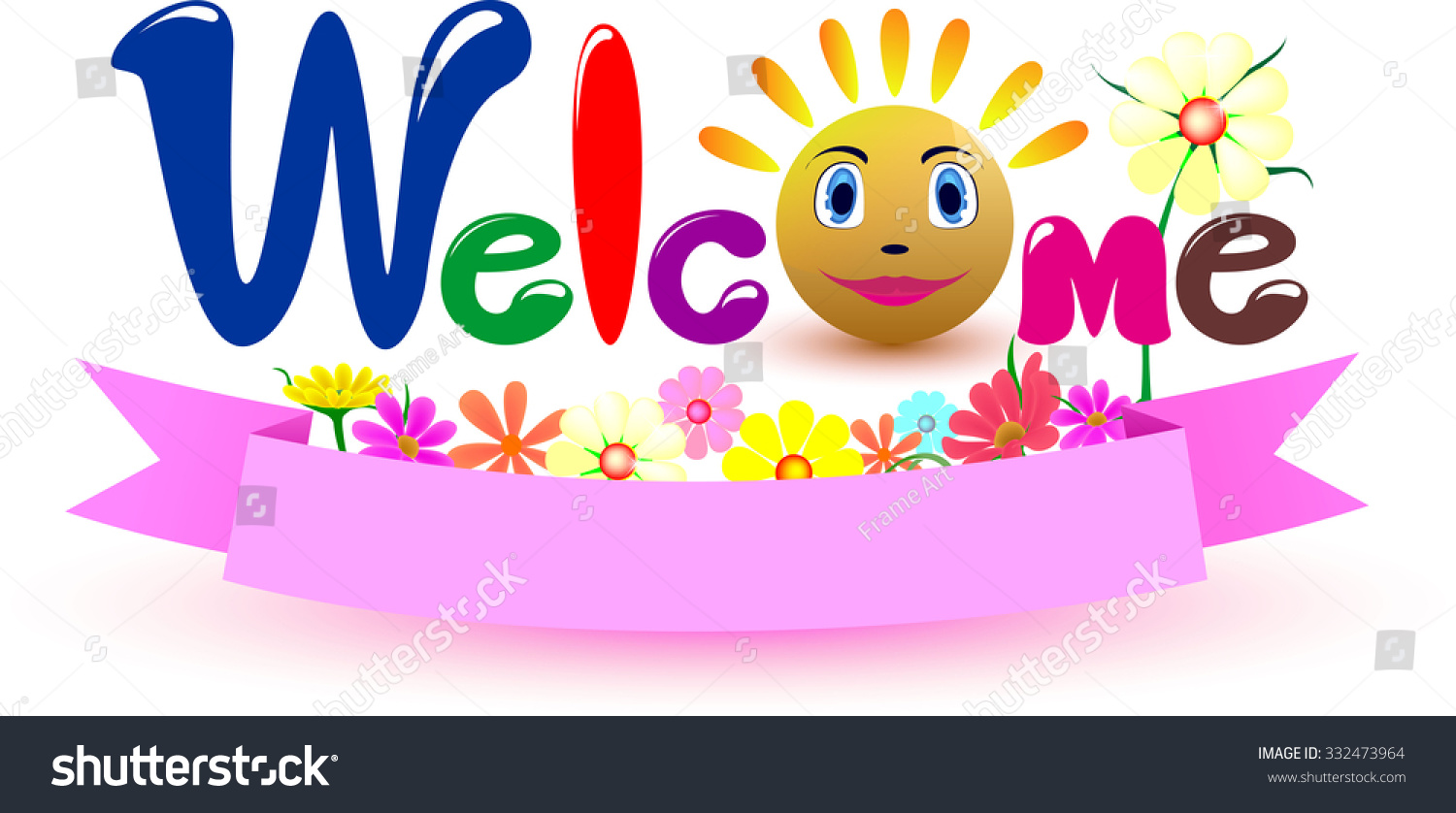 Color art words - Welcome Vector Design Words Design Color Full