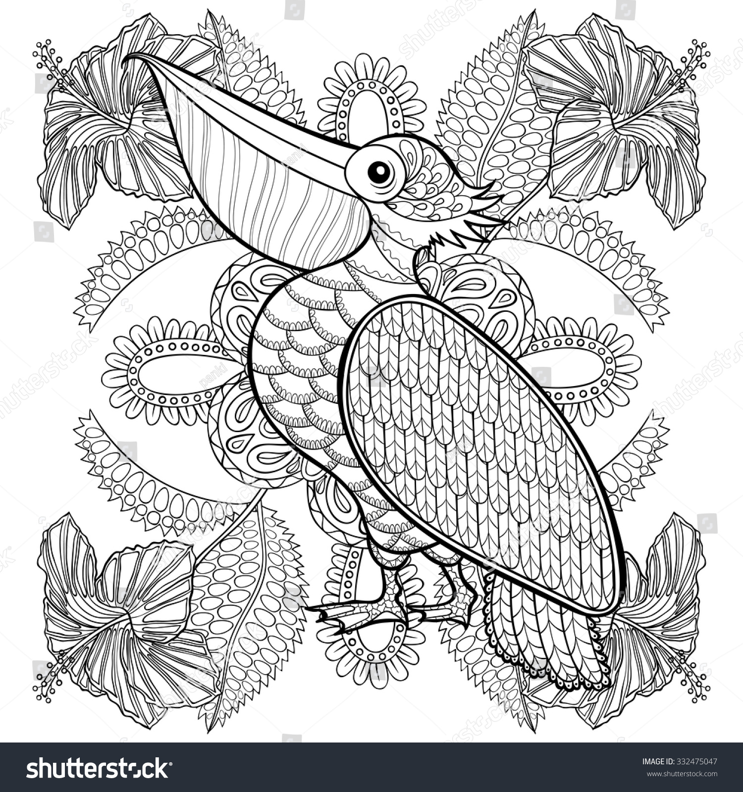 Adult Coloring Pages Puffin