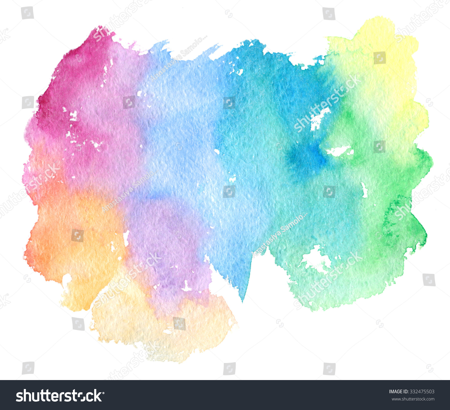 Rainbow Paint Splatter White Background