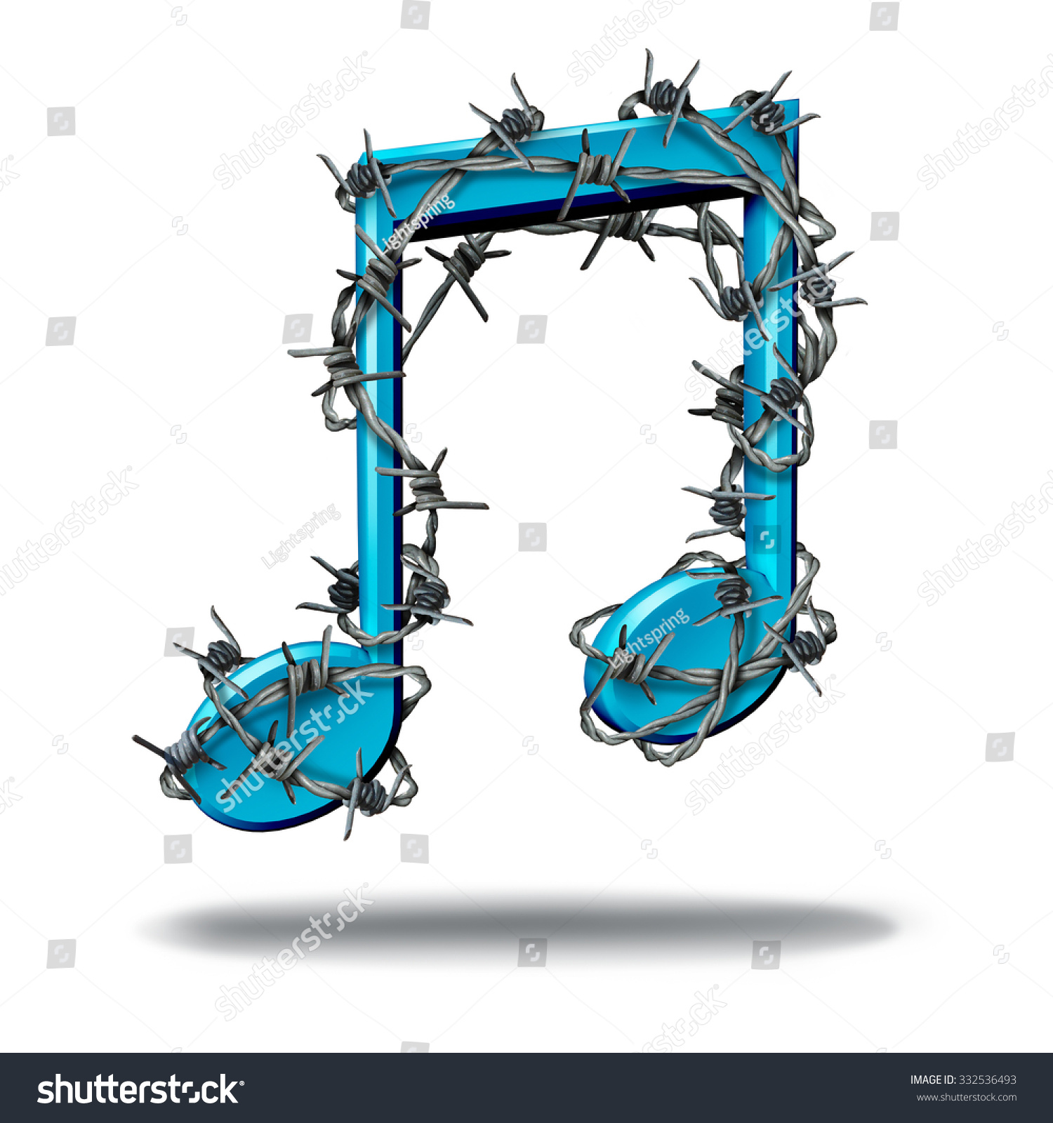 Music Restriction Concept Musical Note Wrapped Stock Illustration ...