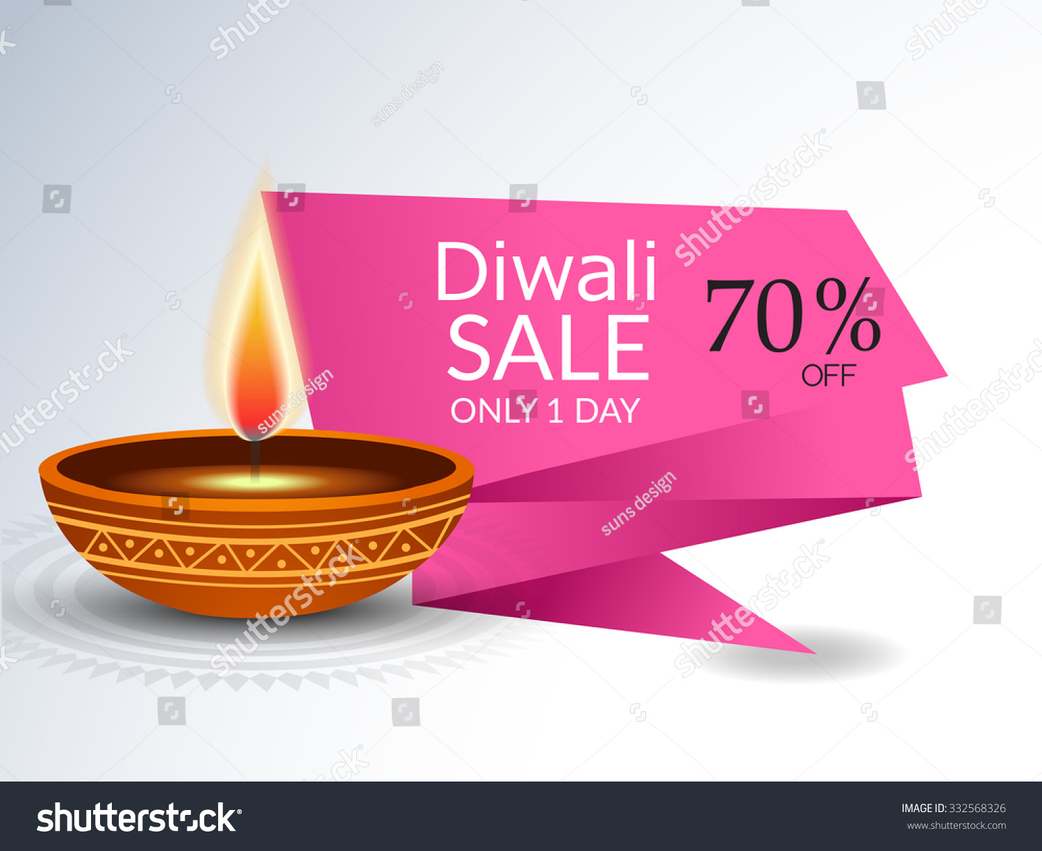 Vector Illustration Diwali Offers Sale Banners Stock