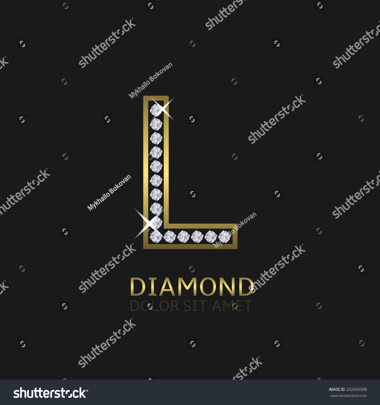 Stock vektory na téma Golden Metal Letter L Logo Diamonds (bez ... d251d23587