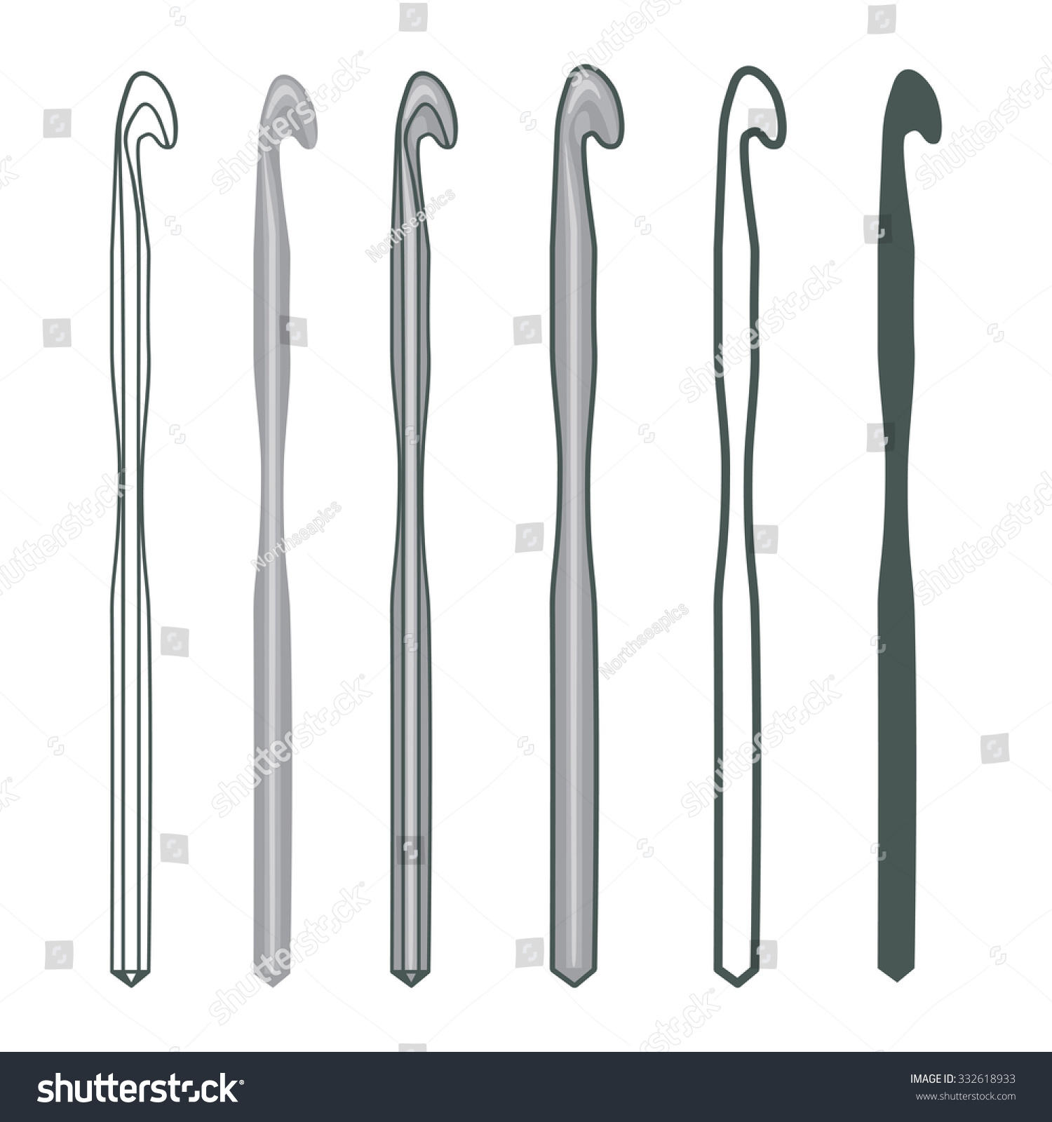 Crochet Hook (Vector Set Collection) - 258.6KB