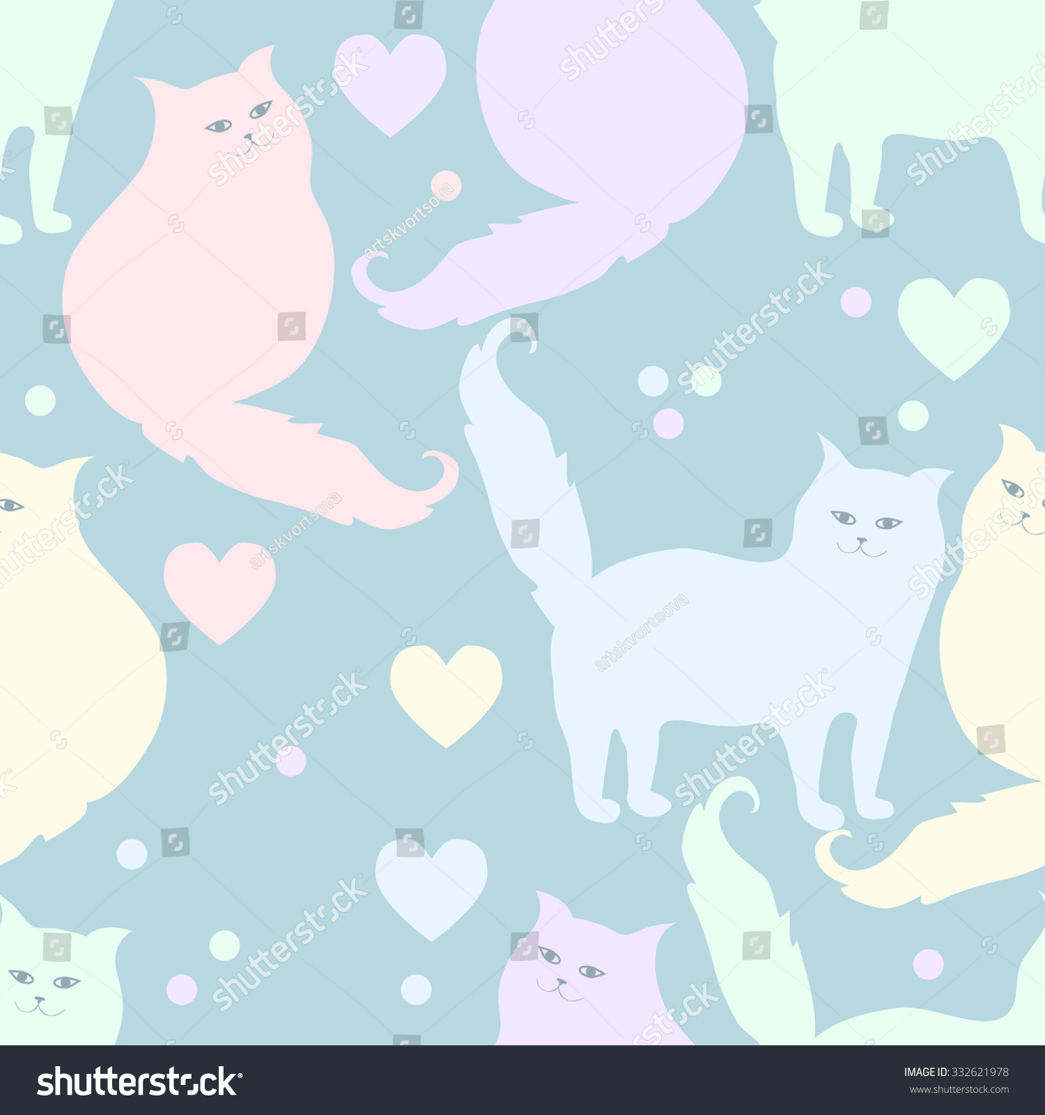 Wallpapers pattern fills web page backgrounds surface textures - Seamless Pattern With Cats Vector Background Perfect For Wallpapers Pattern Fills Web Page