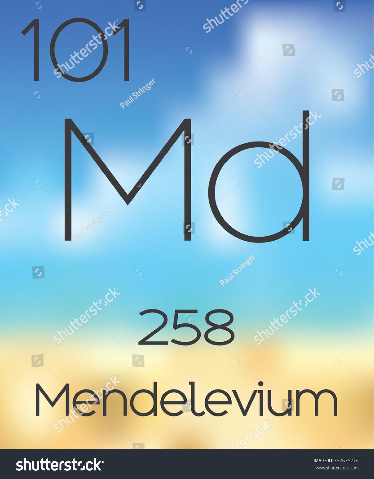Periodic table elements mendelevium stock vector 332636279 the periodic table of the elements mendelevium urtaz Gallery
