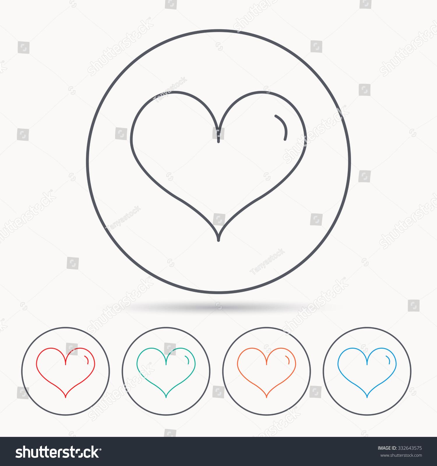 Heart icon love sign life symbol stock vector 332643575 shutterstock love sign life symbol linear circle icons buycottarizona