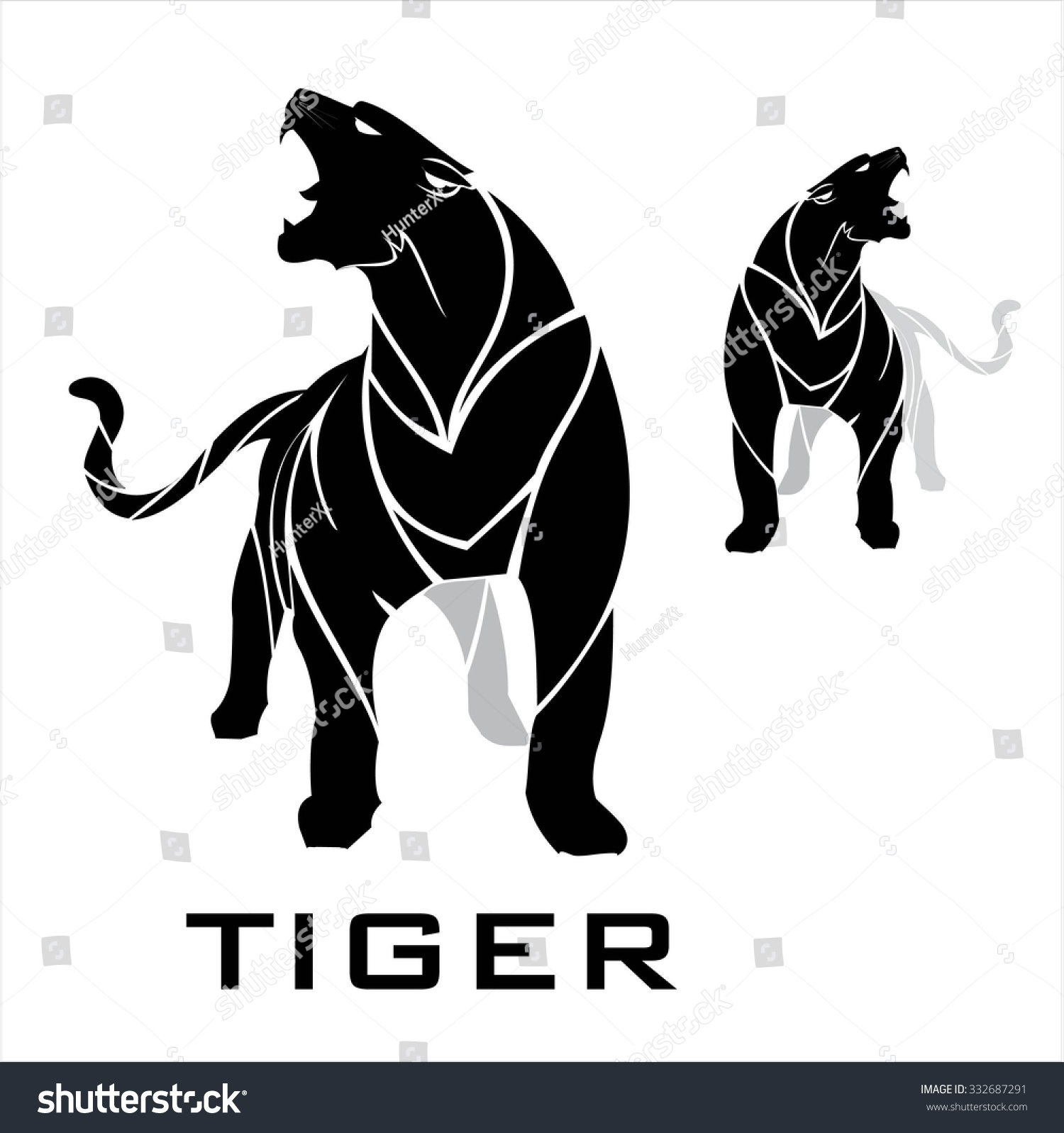 Tiger roar vector - photo#16