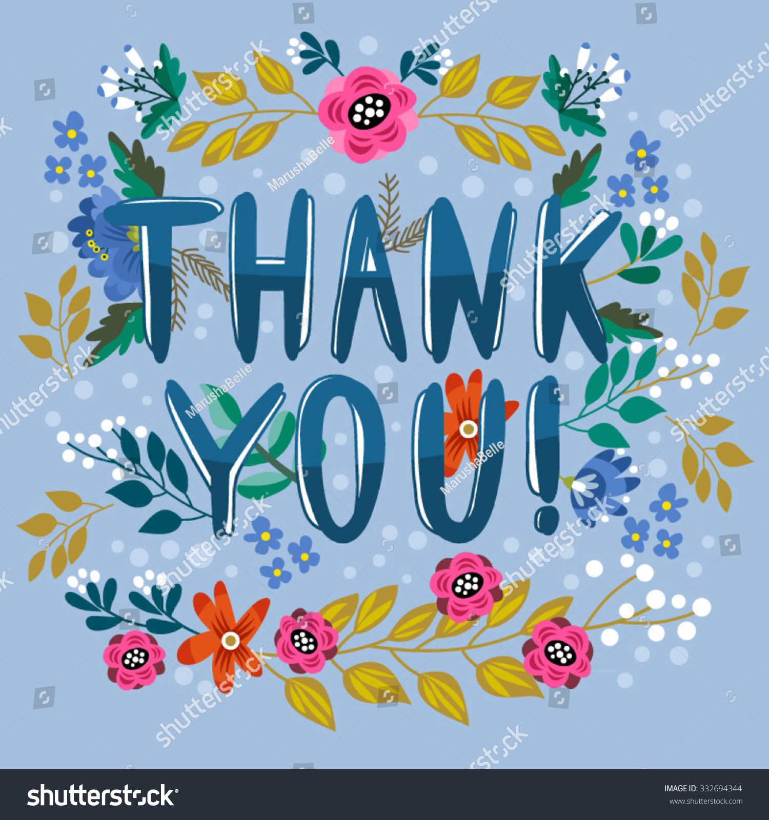 Beautiful greeting card thank you bright stock vector 332694344 beautiful greeting card thank you bright illustration can be used as greeting kristyandbryce Choice Image
