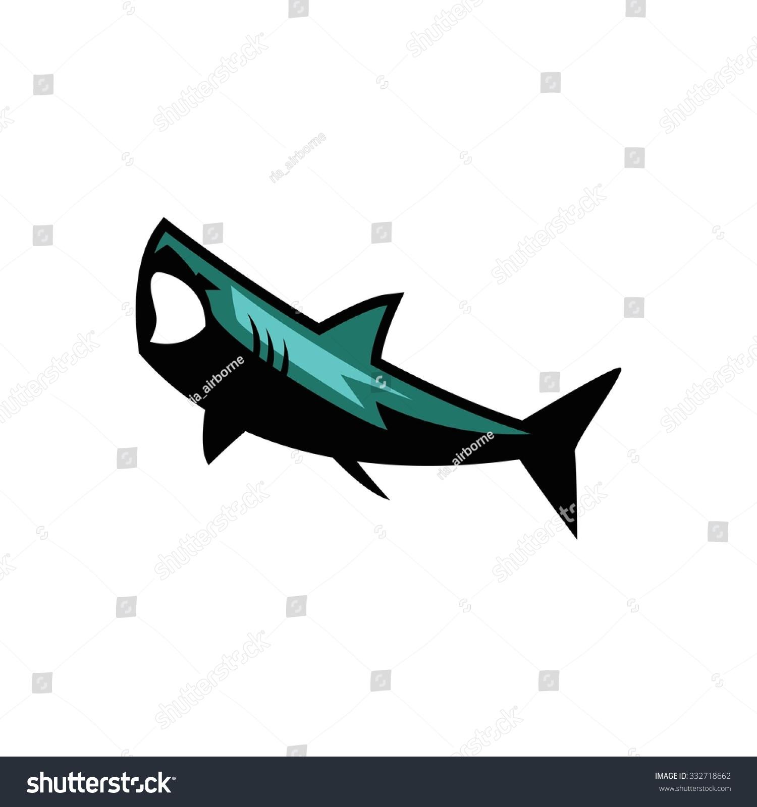 Shark Sport Vector Template Stock Vector 332718662 - Shutterstock