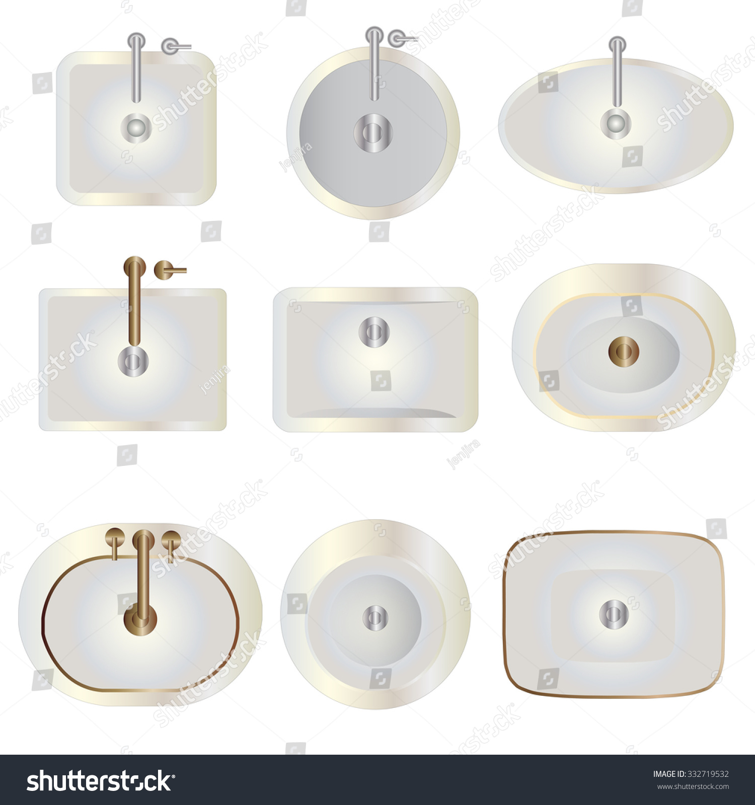 Bathroom sink top view - Bathroom Basin Top View Set 8 For Interior