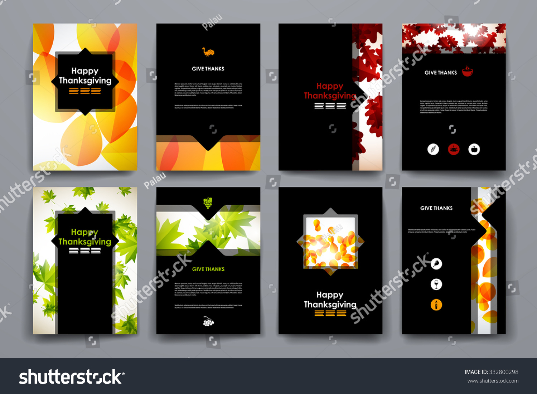 Set Brochure Poster Templates Autumn Style Vector de stock332800298 ...