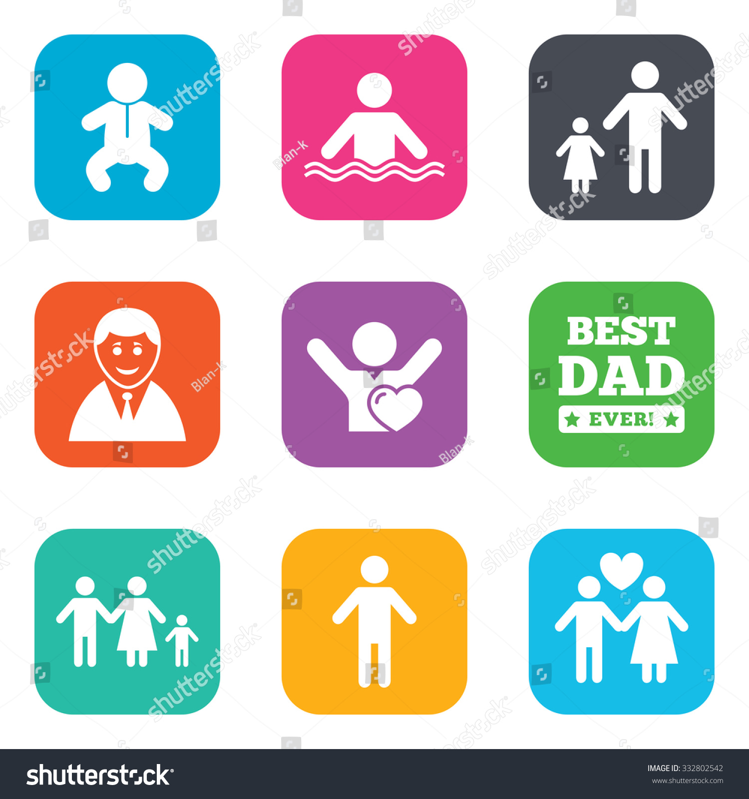 People family icons swimming pool love stock vector 332802542 swimming pool love and children signs best dad buycottarizona
