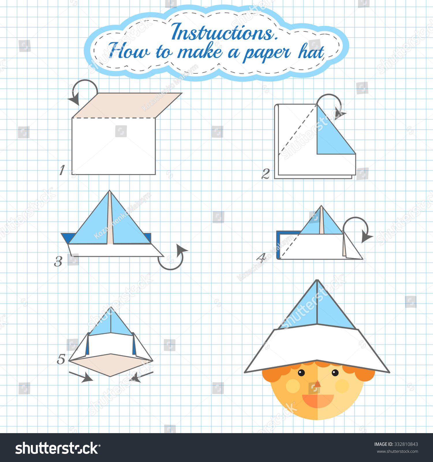 instructions how to make paper hat tutorial hat made of paper step by step