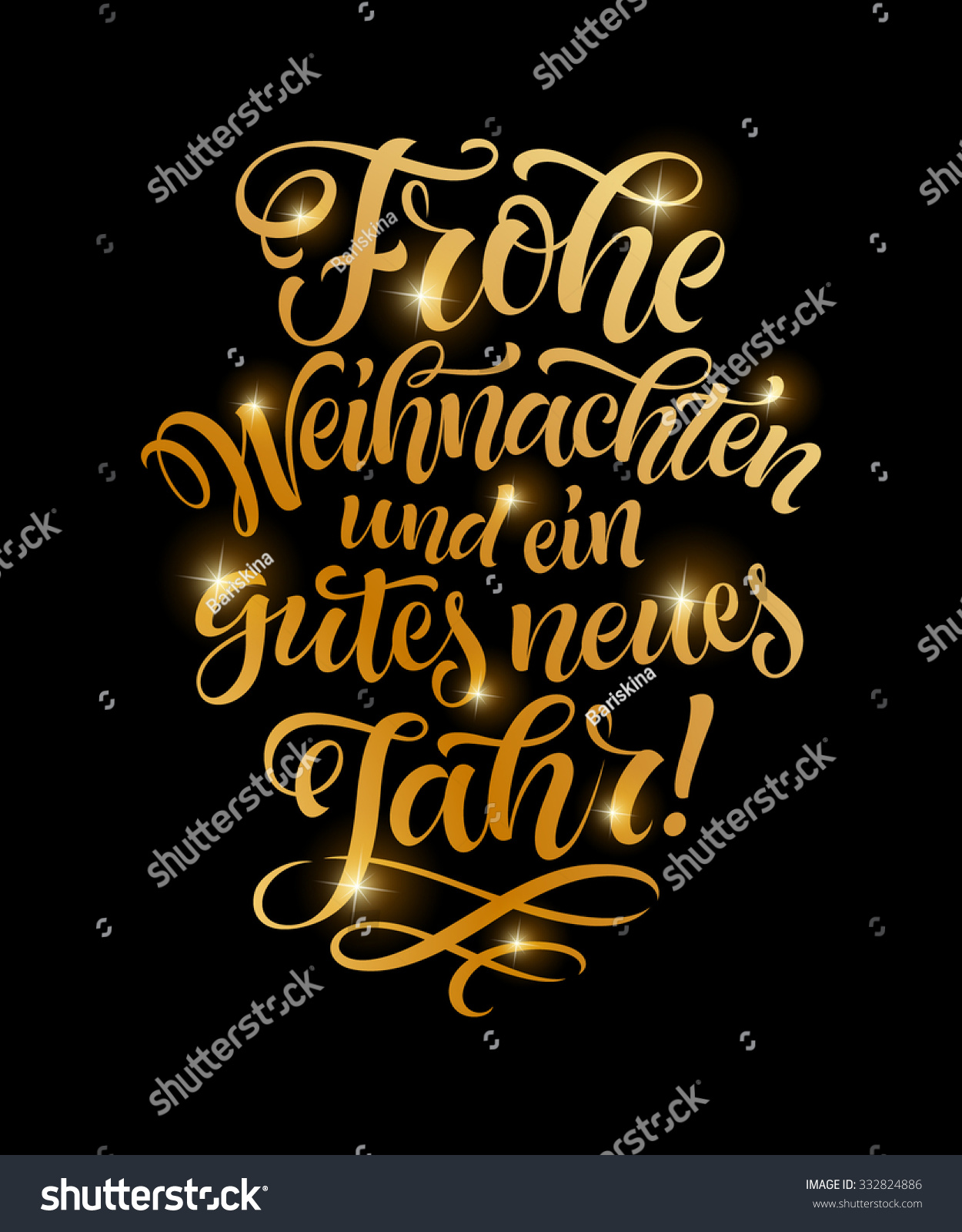 vector german merry christmas golden text frohe. Black Bedroom Furniture Sets. Home Design Ideas