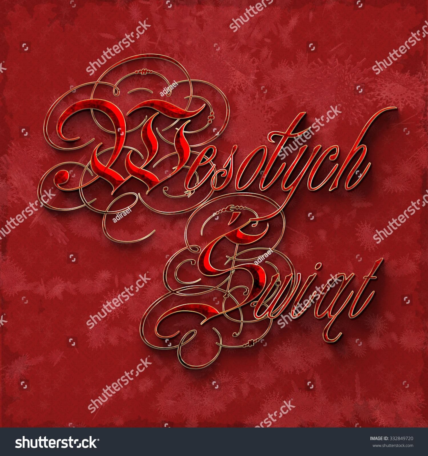 merry christmas decorative lettering on polish language - How To Say Merry Christmas In Polish