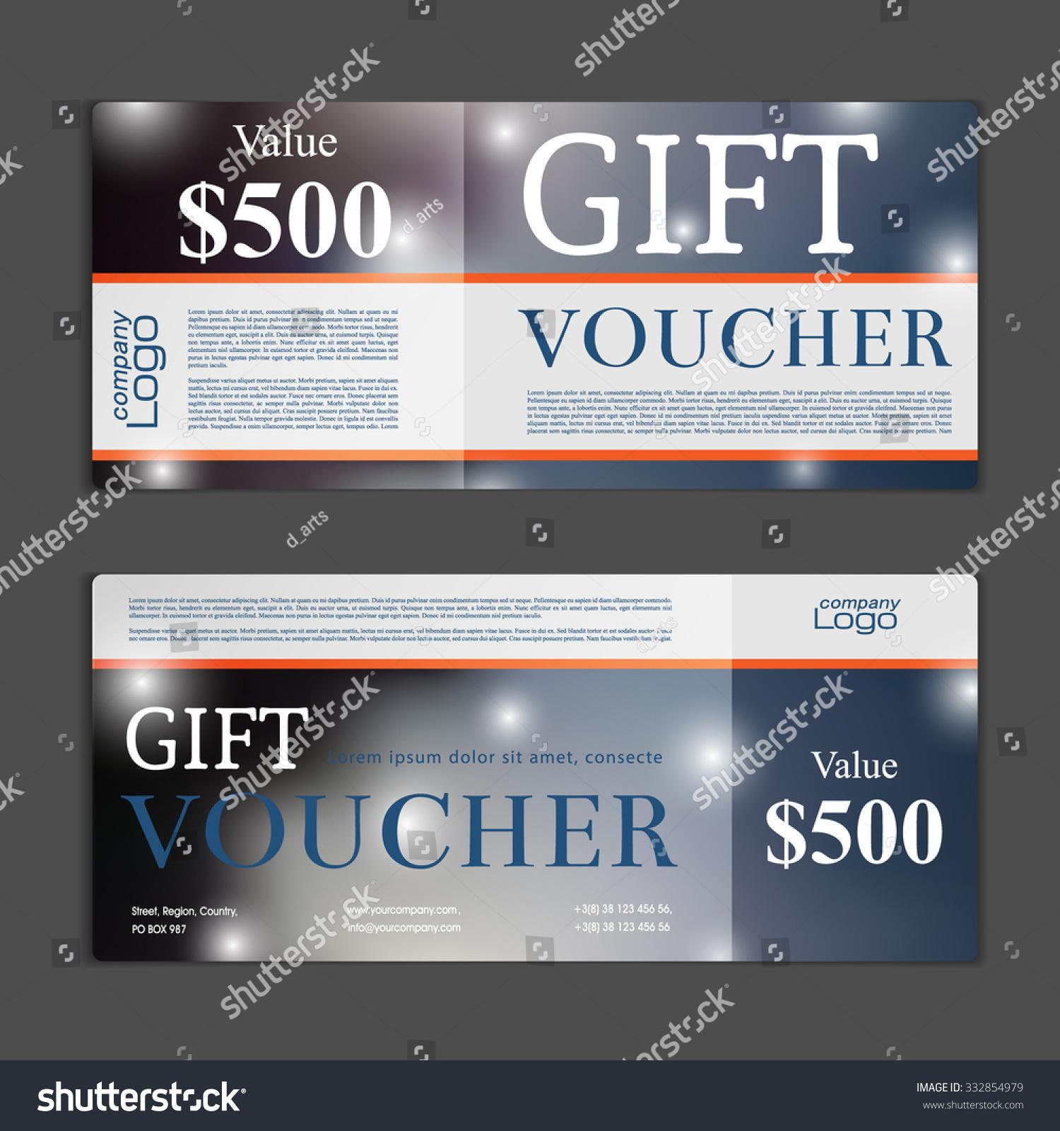Gift Voucher Template Stock Vector 332854979 - Shutterstock