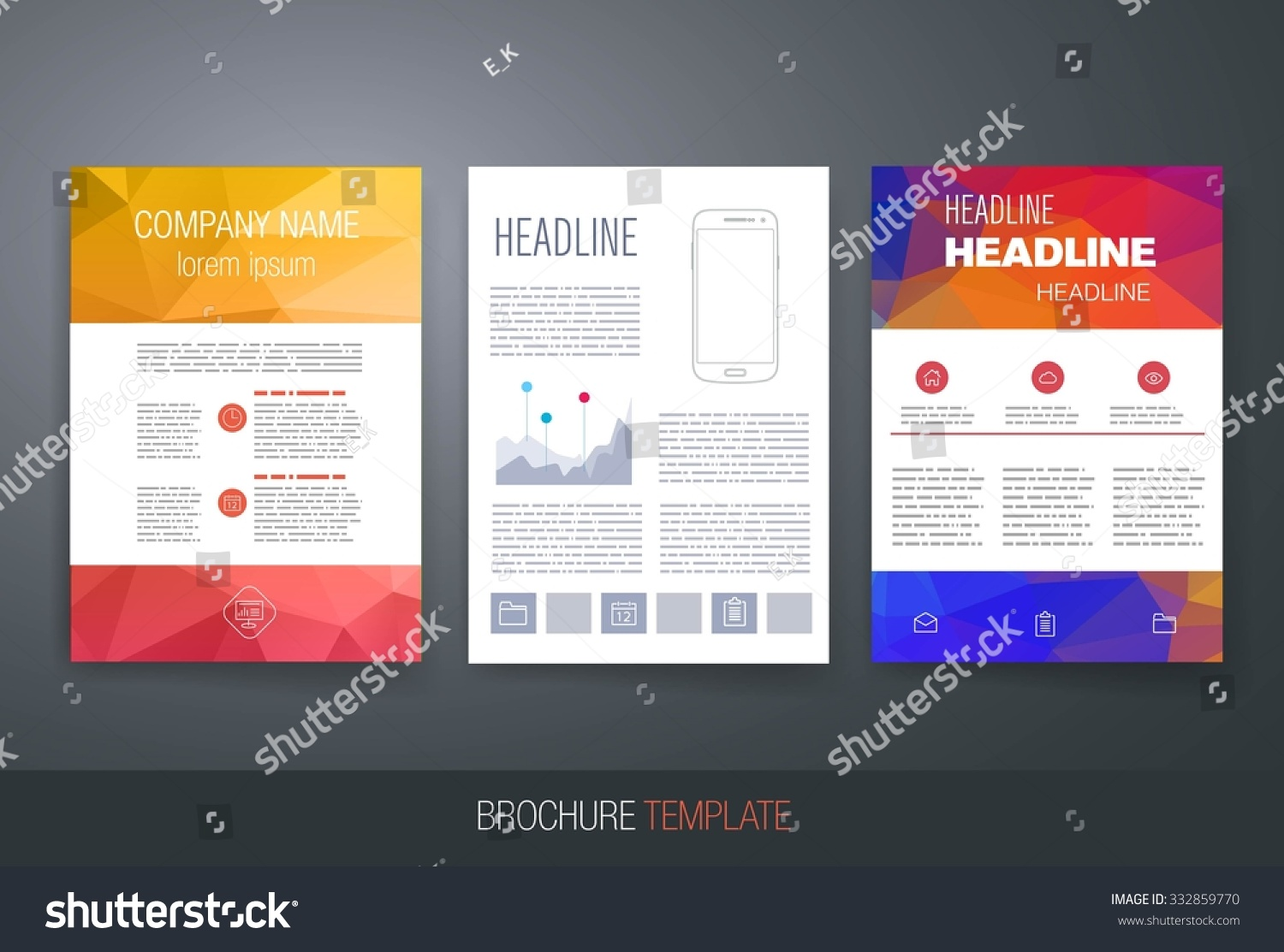 Polygon Business Brochure Flyer Design Layout Template Templates