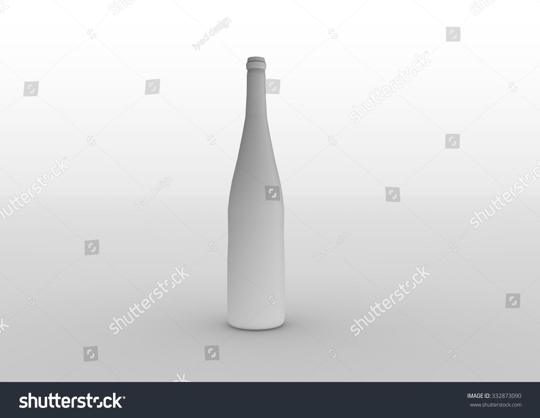 4D Max Cinema 3d rendering empty blank bottle cinema stock illustration