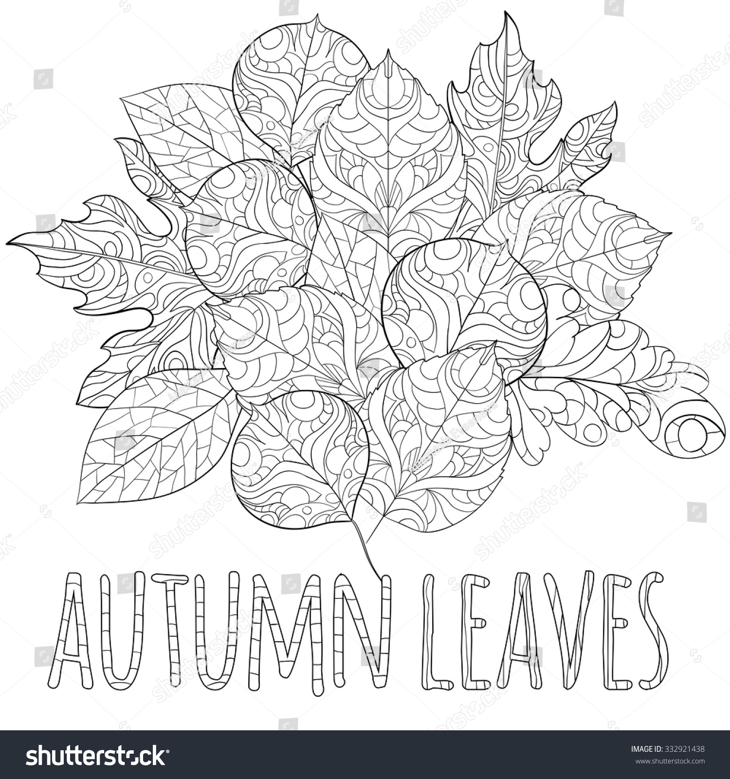 Anti stress coloring therapy - Art And Color Therapy An Anti Stress Coloring Book Circle Leaf Black Ornament