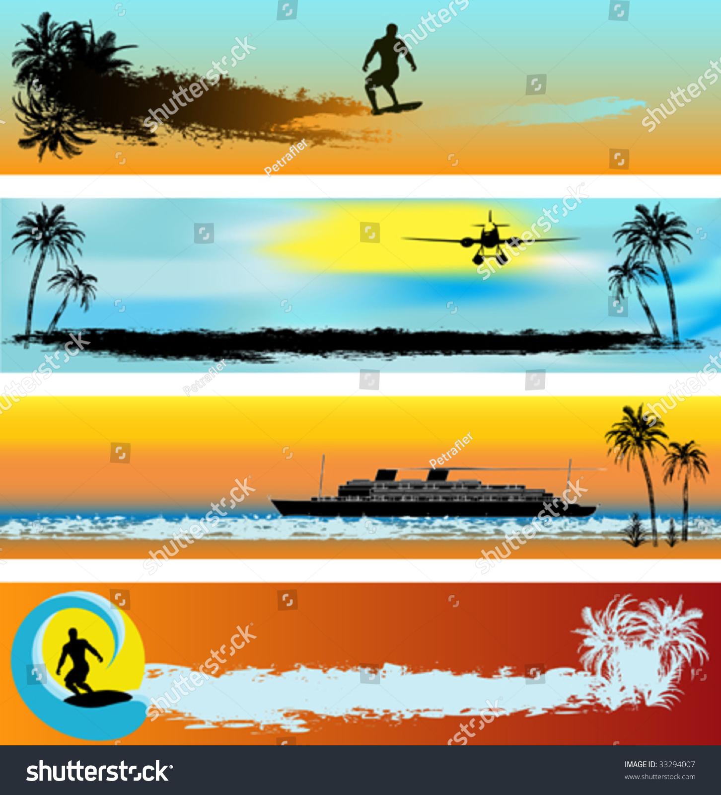 Web Banner Templates. tropical beach web banner templates royalty ...