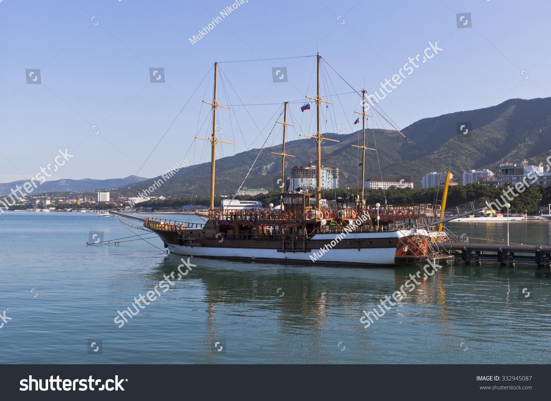Gelendzhik Russia  city pictures gallery : Gelendzhik, Krasnodar region, Russia July 14, 2015: Corsair sailboat ...