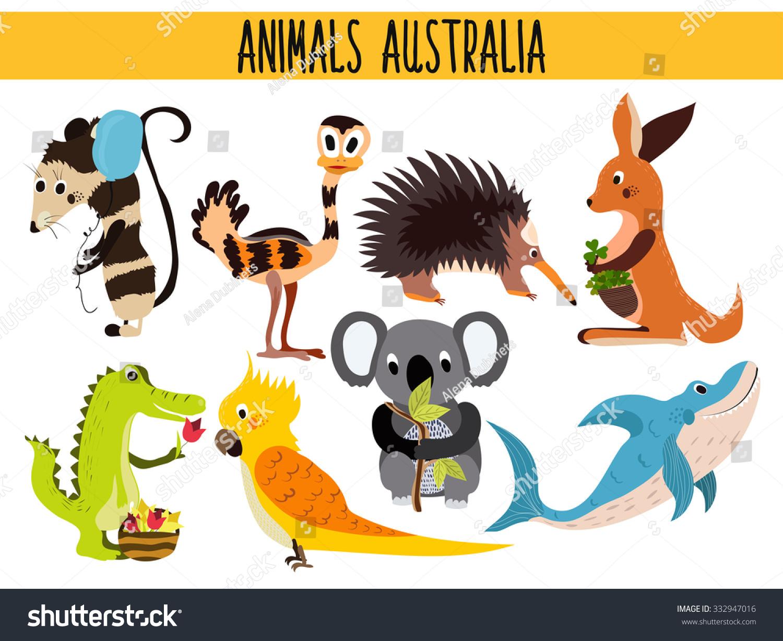 cute cartoon zoo animals chart black models picture