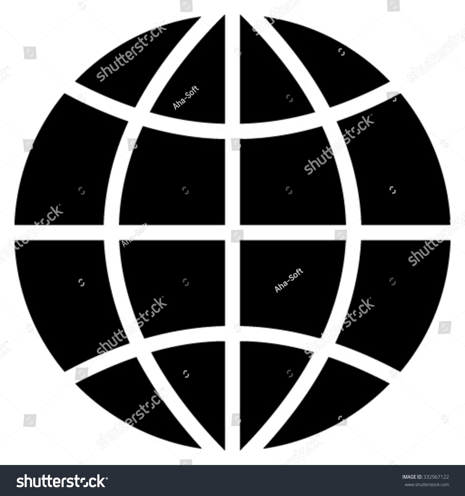 Planet globe vector icon style flat stock vector 332967122 planet globe vector icon style is flat symbol black color rounded angles buycottarizona Choice Image