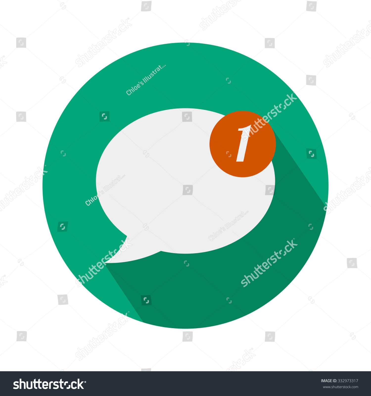 stock-vector-one-new-message-icon-in-fla