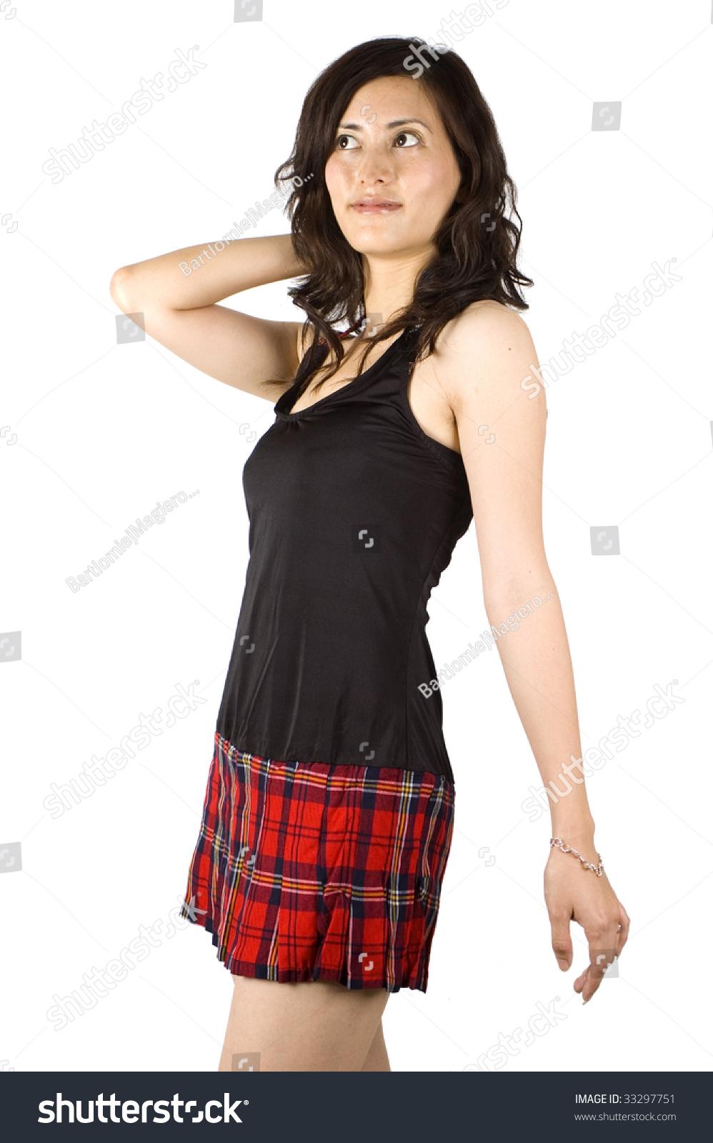 Putting on skirt
