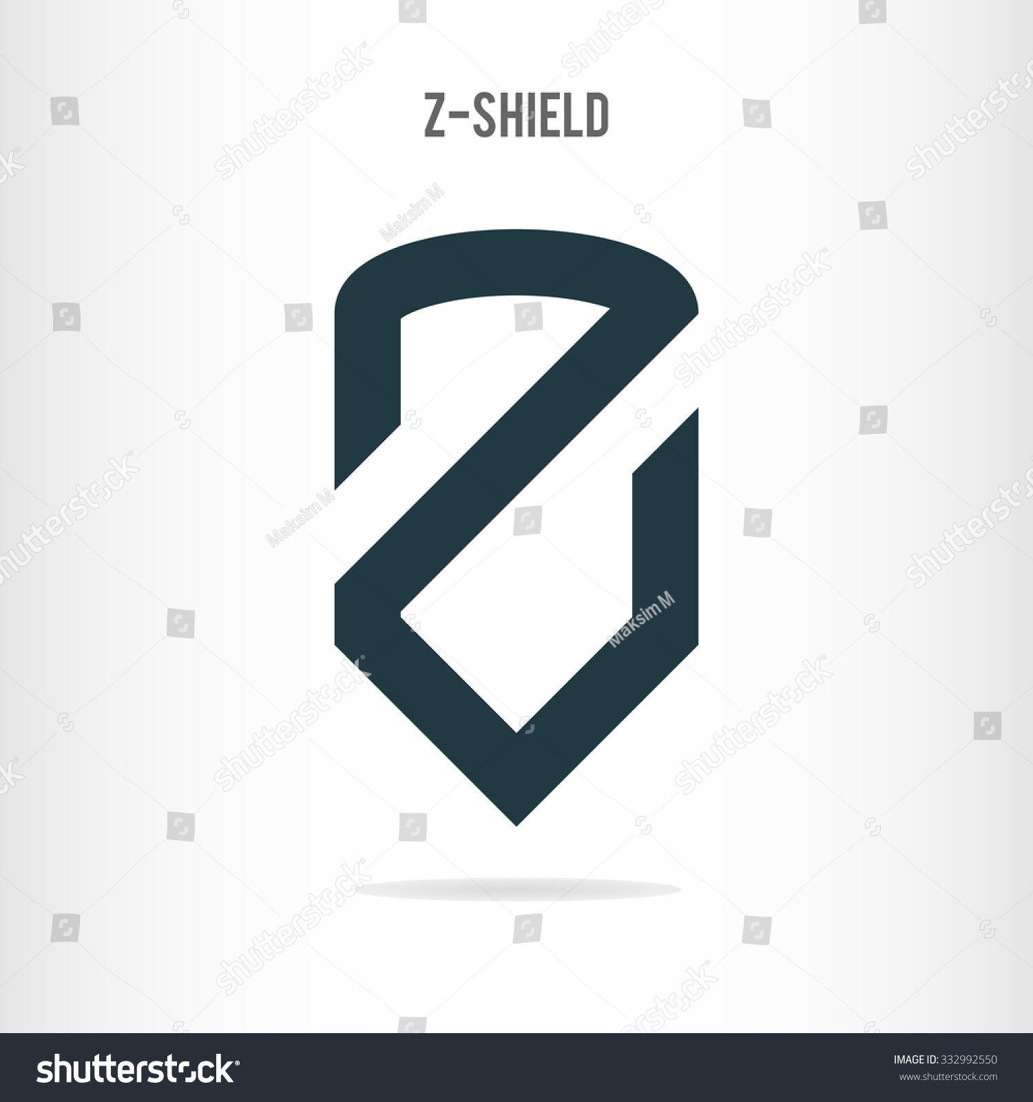 Charming Letter Z Logo Template. The Letter Z In The Form Of Shield