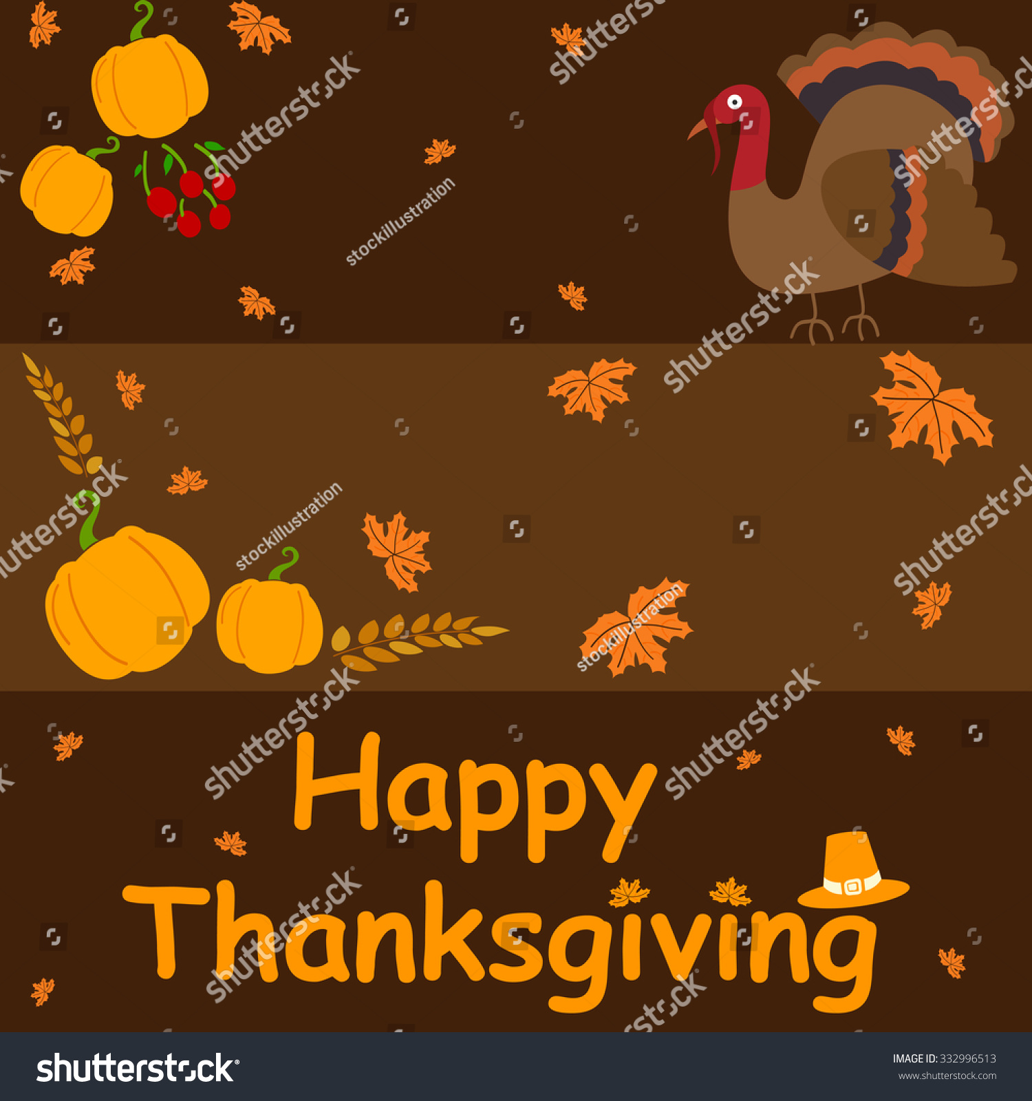 Happy thanksgiving holiday greeting card vector stock vector happy thanksgiving holiday greeting card in vector m4hsunfo