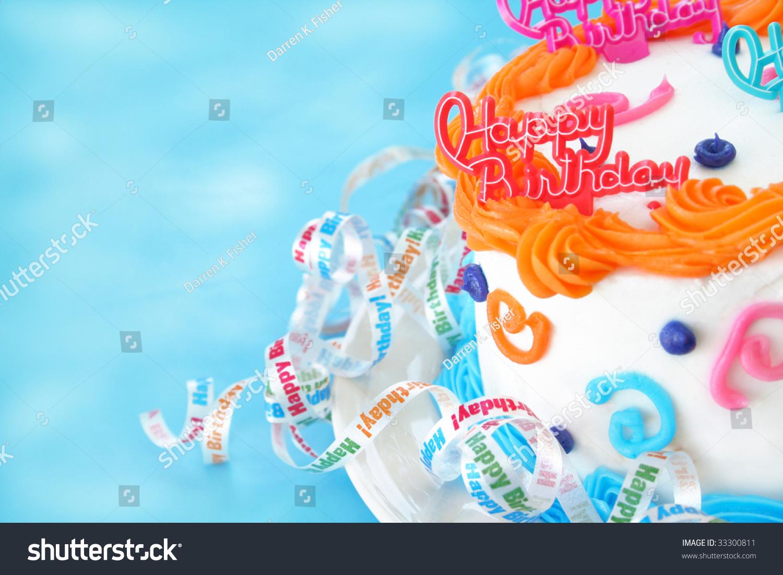 Half Birthday Cake Words Happy Birthday Stock Photo - Words on cake for birthday