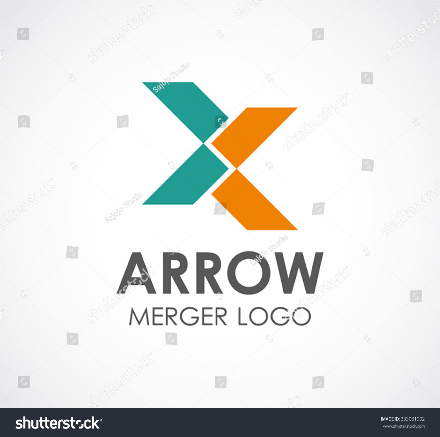 Arrow Connect Of Ribbon Abstract Vector And Logo Design Or