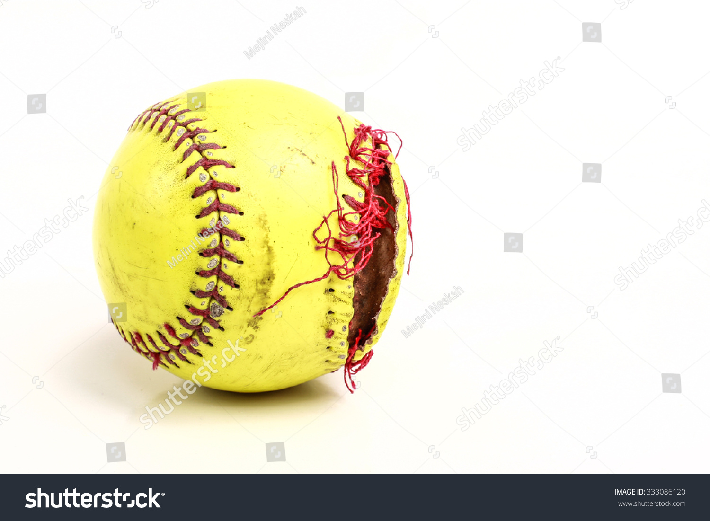 Yellow Softball Ball